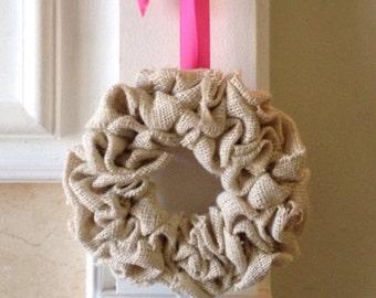 Mini burlap wreath