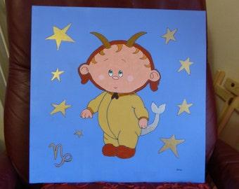 acrylic painting, children room decoration.