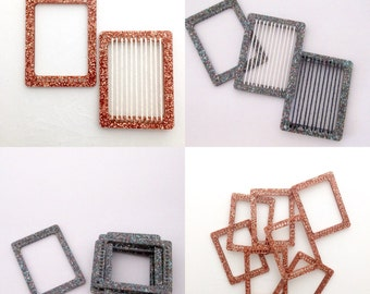 Set of 10 tiny sparkly weaving looms