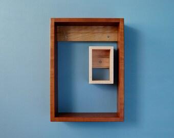 Open Modular Shelves in Cherry