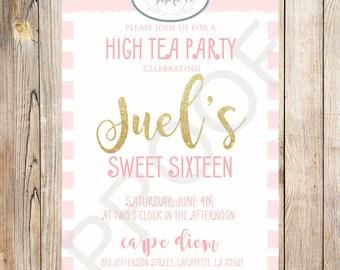 Sweet Sixteen/High Tea Party Invitation