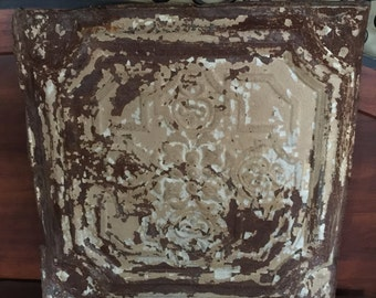 Salvaged Tin Ceiling Tile, Tin Tiles, Wall Hanging