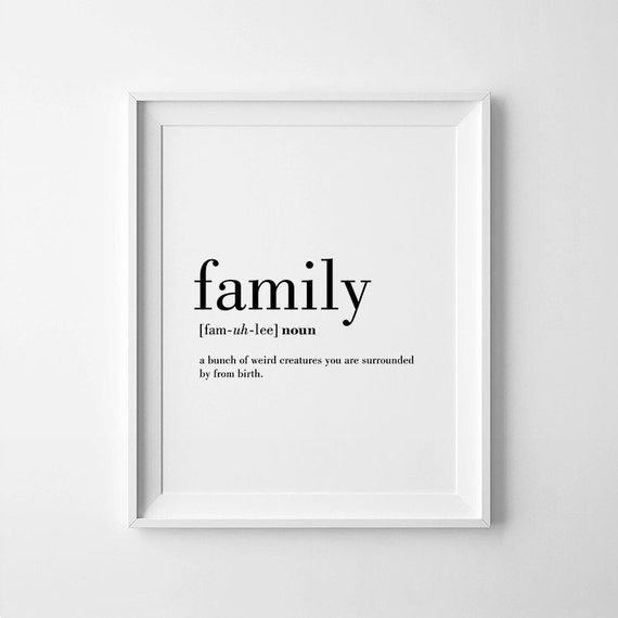 Definition Of Wall Decoration : Family definition art wall by printabold