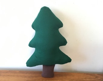 Felt Pine Tree, Decorative Tree Pillow, Forest Theme, Woodland Theme, Fake Tree