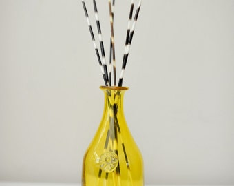 Yellow Vase with Porcupine Quills