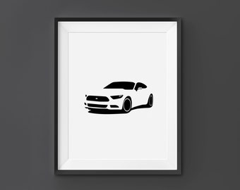 Ford Mustang Ford Wall Art Ford Print Ford Mustang Home Decor