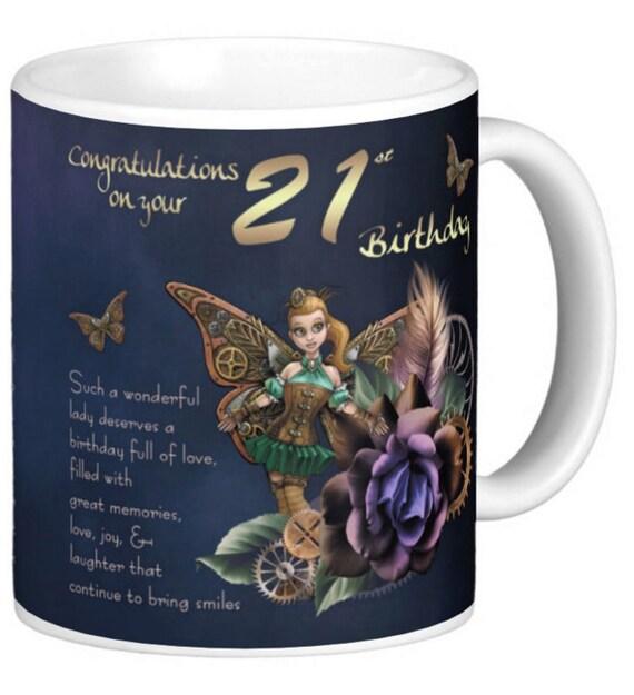 Steampunk Birthday Mug Birthday Gift Mug By MoonlakeDesignMugs