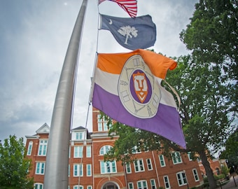 Clemson University flags