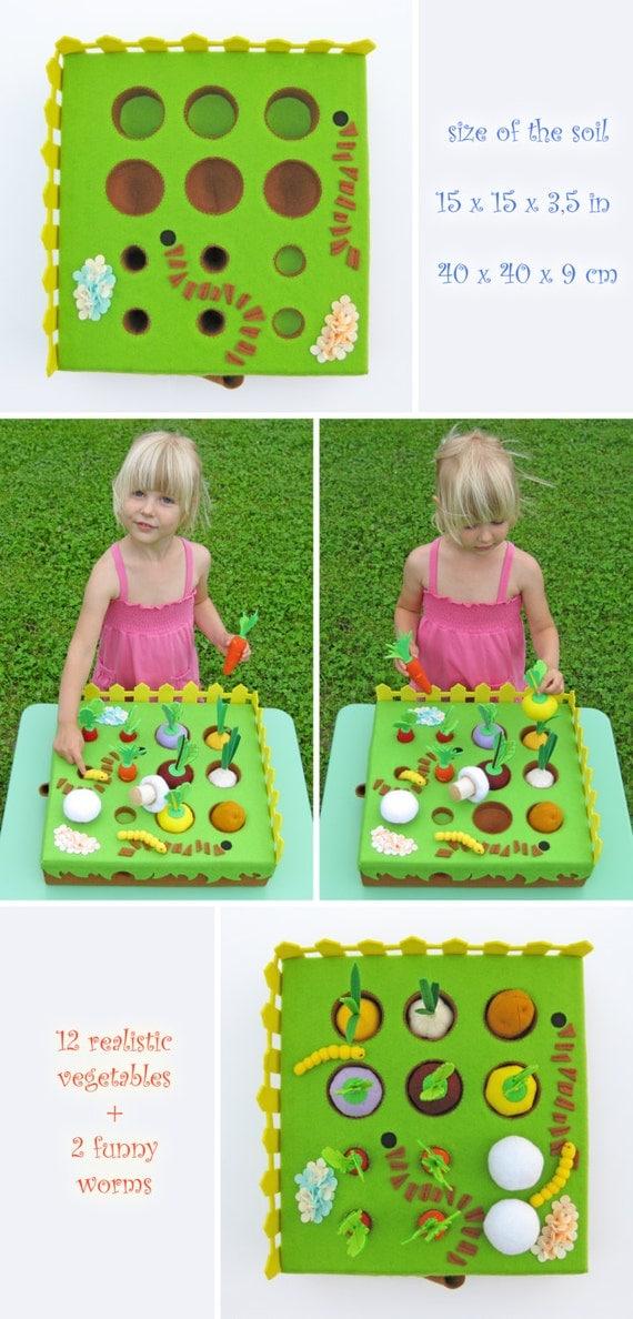 Jeu du jardin de l gumes joue ensemble cadeau enfant par myfruit - Ensemble jardin enfant ...