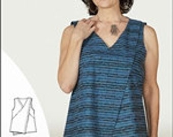 NEW* Asymmetrical Top & Tunic  IJ1149E by Indygo Junction - pattern