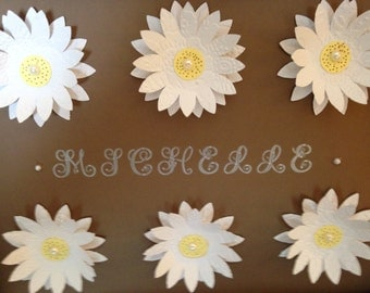 Personalized Daisy Wall Hanging