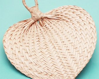 SALE - 10 pcs DIY Palm Hand Fans 10 inches - 11 inches size