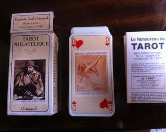 Rare Grimaud Philatelique Philatelic TAROT CARDS DECK