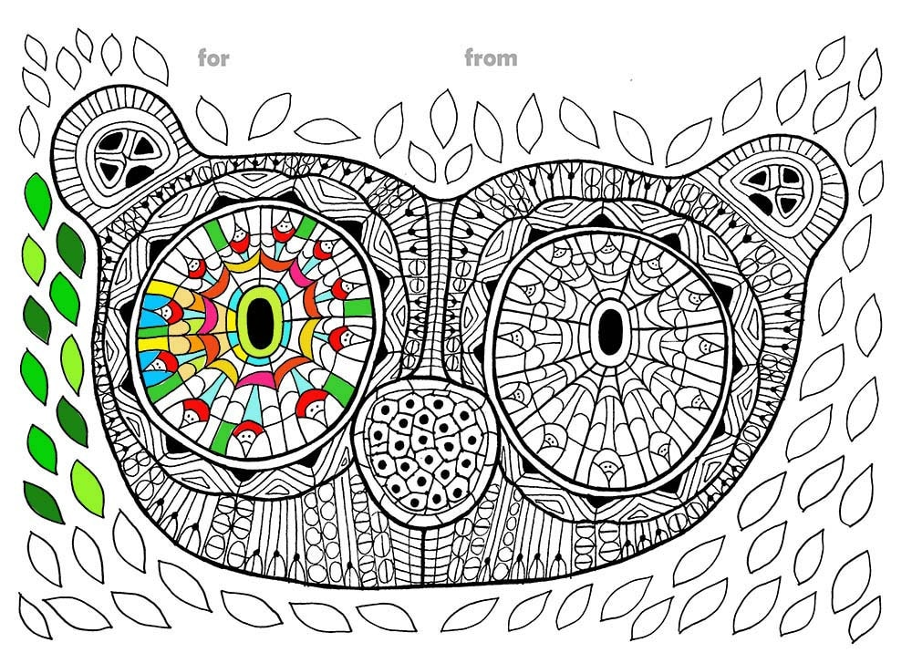 Personalized Monkey Adult Coloring Page PDF