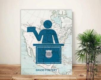 Postal worker, Postman Print, Mailman art, PERSONALIZED Postman gift, Gift for postal worker postal print, postal service, post office decor