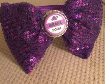Grape soda bow headband