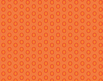 Art Gallery Fabrics Oval Elements in Tangerine Tango
