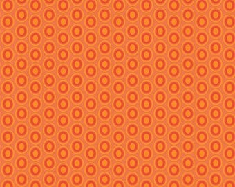 Art Gallery Fabrics Oval Elements in Tangerine Tango Fat Quarter