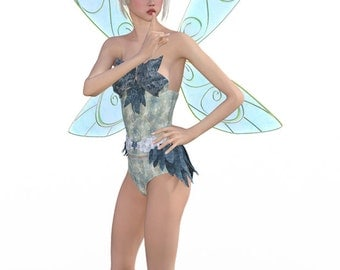 Digital Fairy with a secret - Blue Fairy life like 3d fairy download