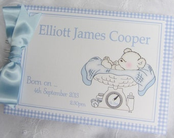 Personalised Baby Birth / Record GUESTBOOK / SCRAPBOOK / Photo Album