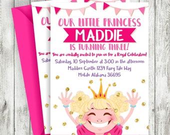 Princess Invitation, Royal Party Invitation, Princess, Girls Invitation, Princess Party, Printable Princess Invitation, Princess Birthday