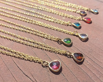 Crystal Charm Necklace, Crystal Necklace, Crystal, Gold Necklace, Boho Necklace, Crystal Jewelry, Short Necklace, Charm Necklace, Charm