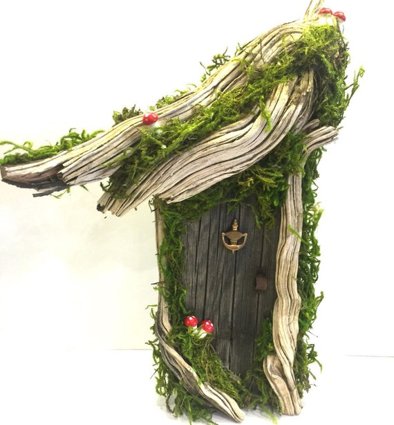 Fairy door tinkerbell fairy house wedding cottage for Tinkerbell fairy door