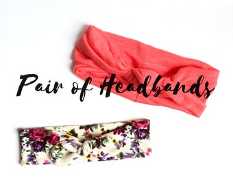 Headband Combo - Pair of Headbands - Pick your Favs!