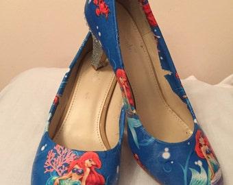 Little mermaid court shoes