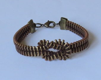 E-1627  Upcycled zipper bracelet