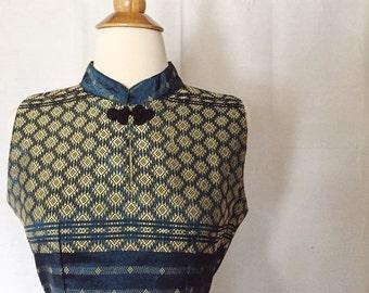 Vintage 1960s Asian Inspired Dress