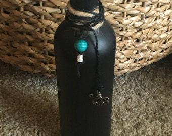 Upcycled wine bottle