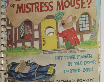 Is This The House of Mistress Mouse?  Richard Scarry Golden Book Board Book pages