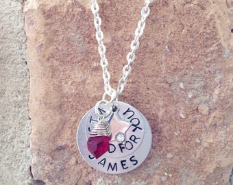 Wished For You Handstamped Necklace -  Handstamped Jewelry - Custom Jewelry - Gifts for Her - Keepsakes