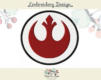 Star Wars Rebel Alliance Embroidery Design