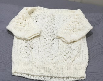 White Knitted Sweater Pullover size M