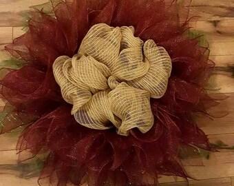 Burgandy flower wreath