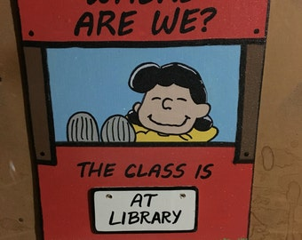 Peanuts Classroom Schedule Sign