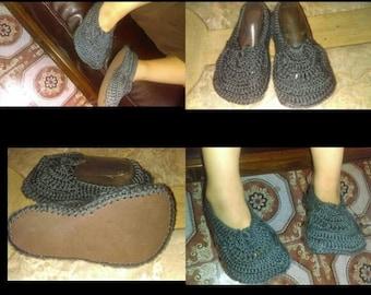 Crochet kids slippers Daytime slippers