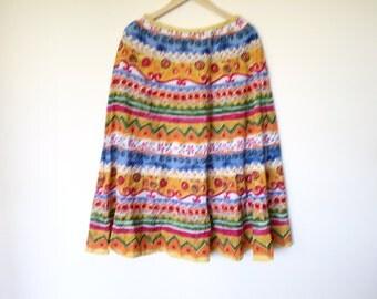 Vintage indian cotton maxi midi circle skirt
