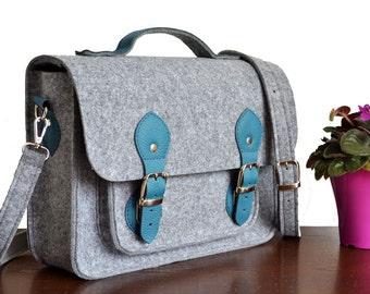LAPTOP BAG, MESSENGER Bag, Felt Laptop Bag, Felt Messenger Bag, Felt Crossbody Bag, Felt Office Bag, Felt Purse