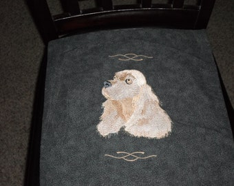Cocer Spaniel Embroidered Pillow
