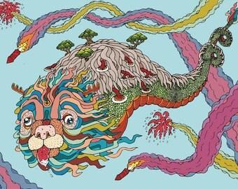 Happy Dragon Poster