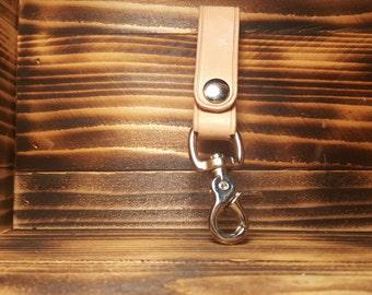 Cream Hand Made Leather Made Key Chain