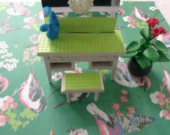 Dollhouse miniature furniture dressingtable