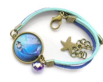 """Bracelet cabochon glass """"Sirens"""""""