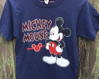 Navy Mickey Mouse Tee