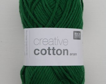 Rico Creative Cotton Aran Green 049