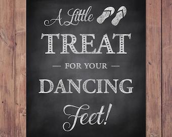 Wedding Flip Flop Sign - Wedding Dancing Shoes Sign - Rustic - PRINTABLE - 8x10 - 5x7