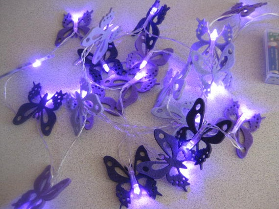 20 Led String Fairy Lights Purple by LiteYourWorldbyMaria on Etsy